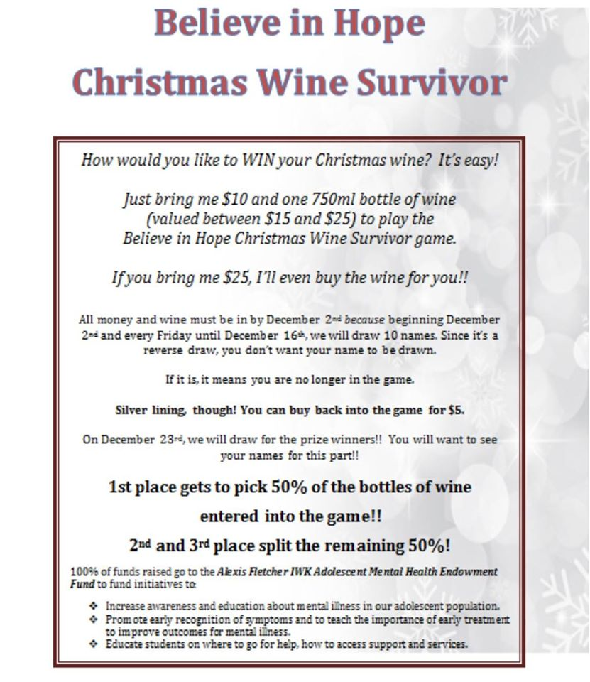 Christmas Wine Survivor – Believe in Hope